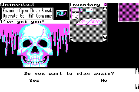 Download Uninvited adventure for DOS (1987) - Abandonware DOS