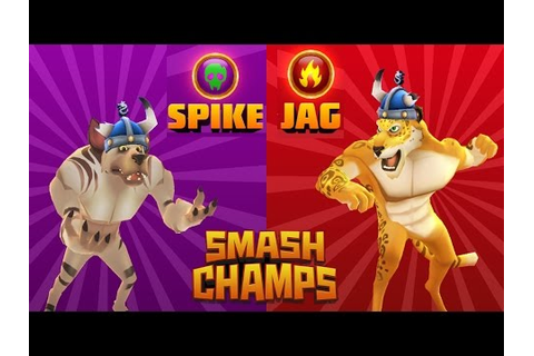 CARTOON GAMES FOR KIDS: Smash Champs - SPIKE vs JAG ...