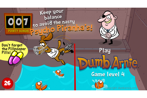 Dumb Arnie Game level Psycho Piranhas image ...