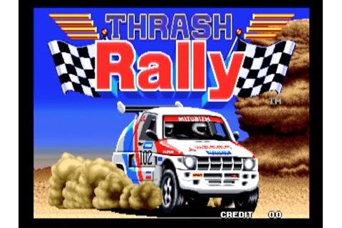 Thrash Rally - Neo Geo Arcade Gameplay - 1991 - YouTube
