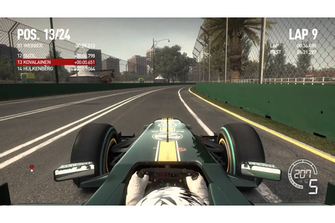 F1 2010 Melbourne hot lap with Team Lotus - YouTube