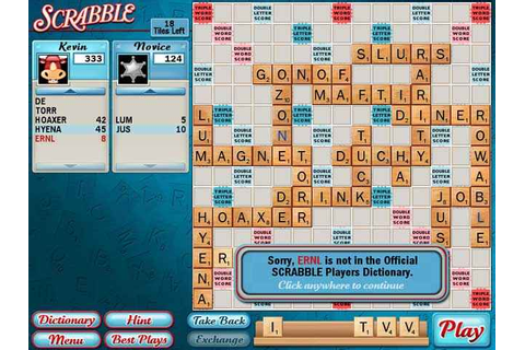 The Computer Edition of Scrabble on Qwant Games