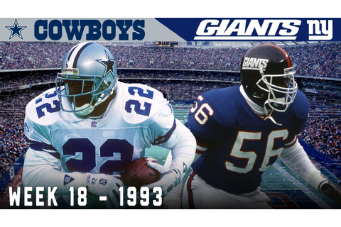 The Emmitt Smith Game! (Cowboys vs. Giants, 1993) | NFL ...