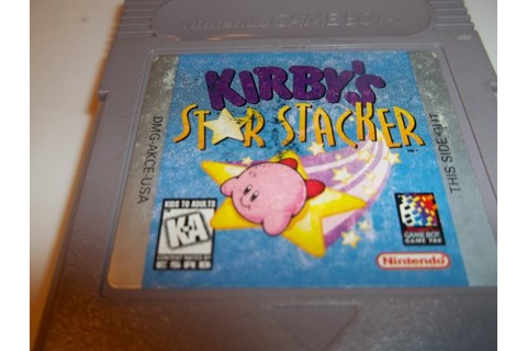 "Free: [Game Boy] - ""Kirby's Star Stacker"" game - Nintendo ..."