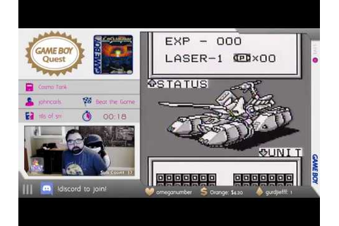 Game Boy Quest #166 - Cosmo Tank - YouTube