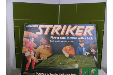 Classic 1970s Parker Games Striker football game boxed ...