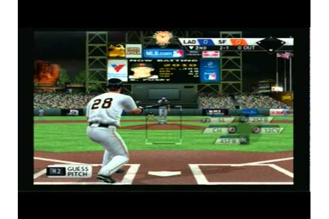 MLB 11 The Show (PS2) - Dodgers Vs Giants 3 Inning Game ...