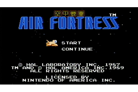 Air Fortress - NES Gameplay - YouTube