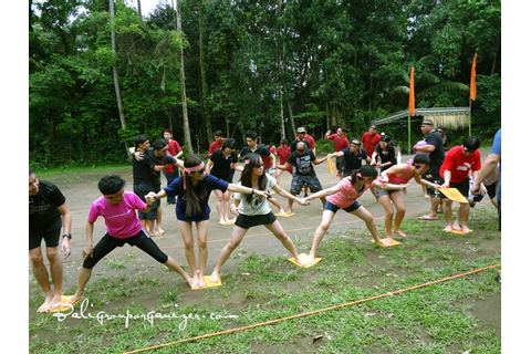 Stepping Mat Games | Bali Garden Team Building Programs