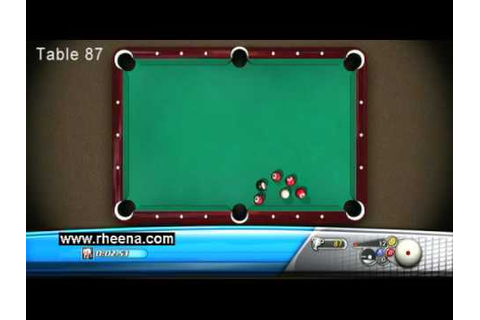 Bankshot Billiards 2 Trick Shots Xbox 360 Tables 86 to 90 ...