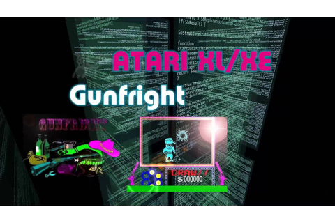 Atari XL/XE new game -=Gunfright=- - YouTube