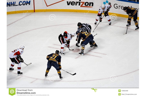 NHL Ice Hockey Faceoff Editorial Stock Image - Image: 13656499