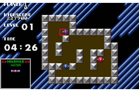 Download Atomix puzzle for DOS (1990) - Abandonware DOS