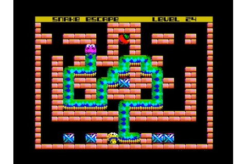 Snake Escape Walkthrough, ZX Spectrum - YouTube