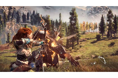 New Horizon Zero Dawn Gameplay Footage From Brasil Game ...