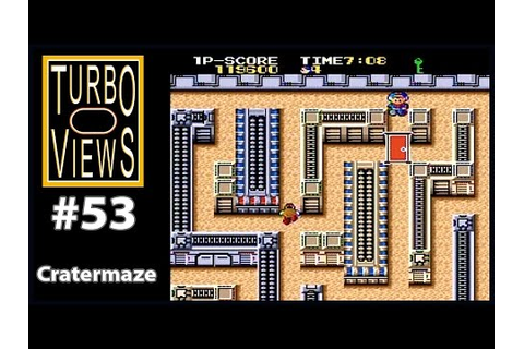 """Cratermaze"" - Turbo Views #53 (TurboGrafx-16 / Duo game ..."