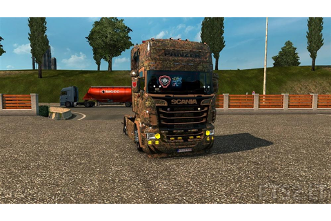 Scania RJL Panzer Commander Game Skin | ETS 2 mods