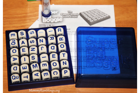Winning Moves Games, Super Big Boggle Review and Giveaway ...