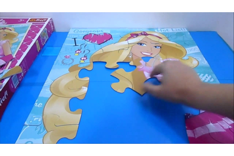 BARBIE Puzzle Games Jigsaw Puzzles Rompecabezas - YouTube
