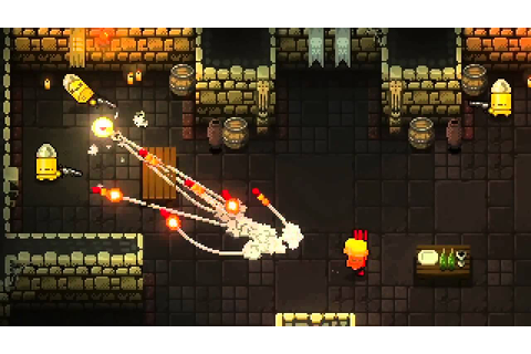 Enter the Gungeon Reveal PS4 Trailer 【HD】 8bit Gameplay ...