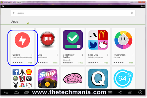 How To Download QuizUp Game For PC :