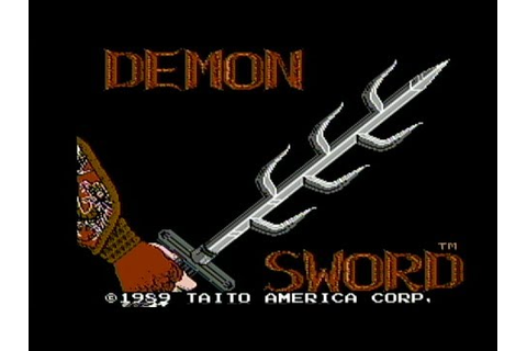 Demon Sword - NES Gameplay - YouTube