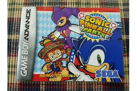 Sonic Pinball Party - Authentic - Nintendo Game Boy ...