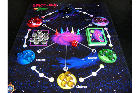SPACE JUMP board game Join the space race to harness a large