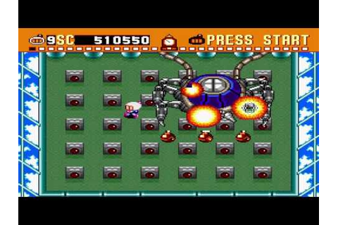 Super Bomberman 1: Normal Game: Level 6-5 to 6-8 (Final ...