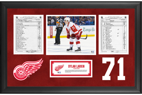 Detroit Red Wings Framed Original Line-Up Cards From April ...