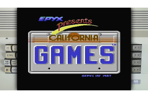 California Games on the Commodore 64 - YouTube