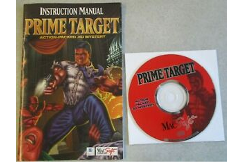 MAC OS PRIME TARGET VIDEO GAME DISC AND MANUAL ONLY NO BOX ...