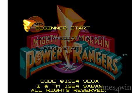Mighty Morphin Power Rangers (Sega CD). Download and Play ...