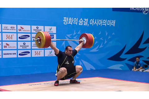 Behdad Salimi 210kg Snatch + 255kg Clean & Jerk 2014 Asian ...