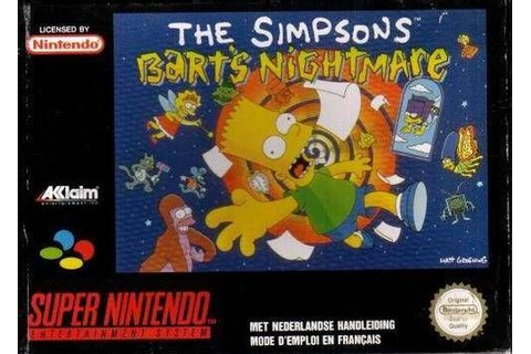 bart's nightmare snes | The Simpsons: Bart's Nightmare Box ...