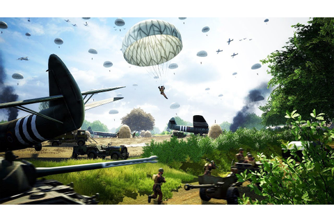 Realistic WWII PARATROOPER JUMP & Full Scale Invasion ...