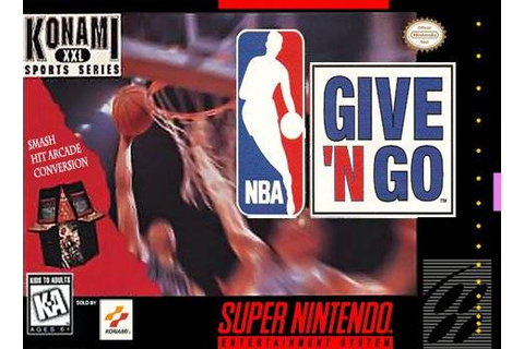 NBA Give N Go SNES Super Nintendo