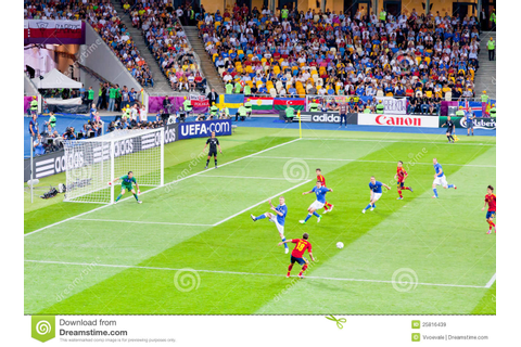 Final Football Game Of UEFA EURO 2012 Editorial Stock ...