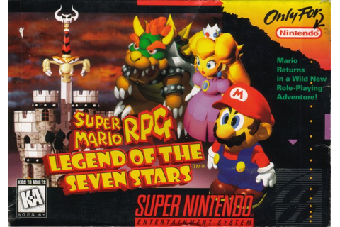 Super Mario RPG: Legend of the Seven Stars SNES Front Cover