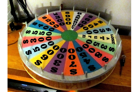 homemade wheel of fortune game | Home made mini-version of ...