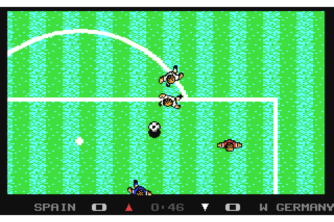 Microprose Soccer (1988) by Sensible Software C64 game