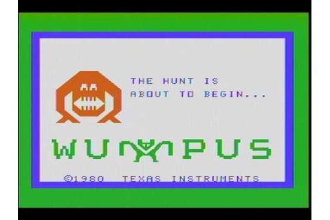 Hunt the Wumpus (TI-99/4A) gameplay footage - YouTube