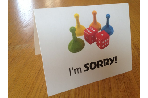 I'm Sorry - Board Game Greeting Card - Nerd Geek I Love ...
