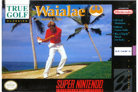 True Golf Classics: Waialae Country Club (1991) SNES box ...