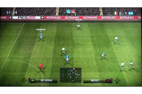 Pro Evolution Soccer 2010 PS3 Gameplay HD: ITA vs ARG 1st ...