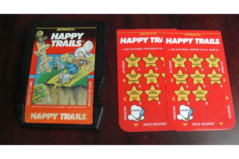 Vintage 1983 Intellivision Happy Trails Video Game ...