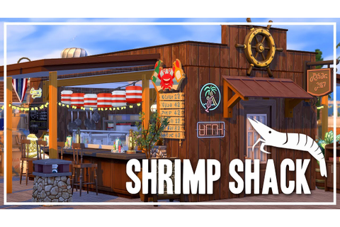 Shrimp Shack [Restaurant] - The Sims 4 Speed Build - YouTube