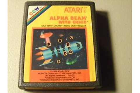 Alpha Beam with Ernie Atari 2600 Video Game Sesame Street ...