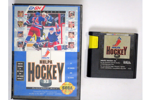 NHLPA Hockey '93 game for Sega Genesis | The Game Guy