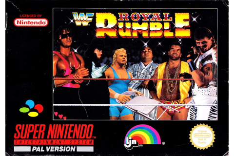 WWF Royal Rumble (1993) SNES box cover art - MobyGames